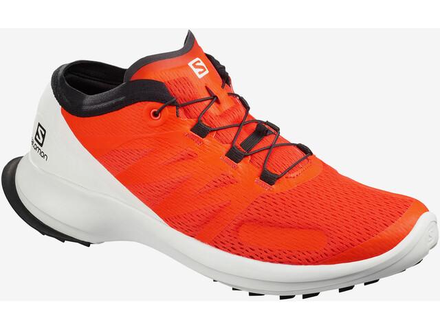 Salomon Sense Flow Shoes Men, cherry tomato/white/black
